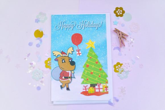 Animal Crossing Jingle - Happy Holidays Greeting Card
