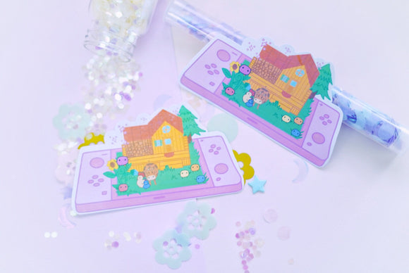 Life on a Farm in Stardew Valley Holographic Sticker | Junimo | Kawaii