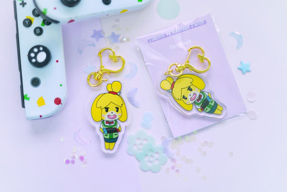 Isabelle on Nintendo Switch 2.5 inch Acrylic Charm | Animal Crossing | Kawaii | New Horizon | New Leaf