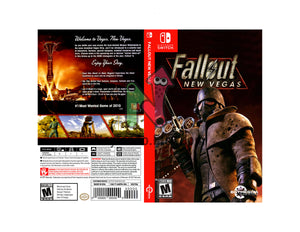 Fallout New Vegas - Custom Nintendo Switch Art Cover w/ Game Case