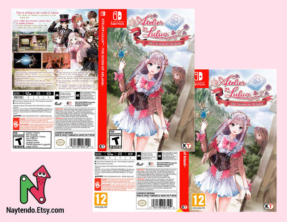 Atelier Lulua: The Scion or Arland - Custom Nintendo Switch Art Cover