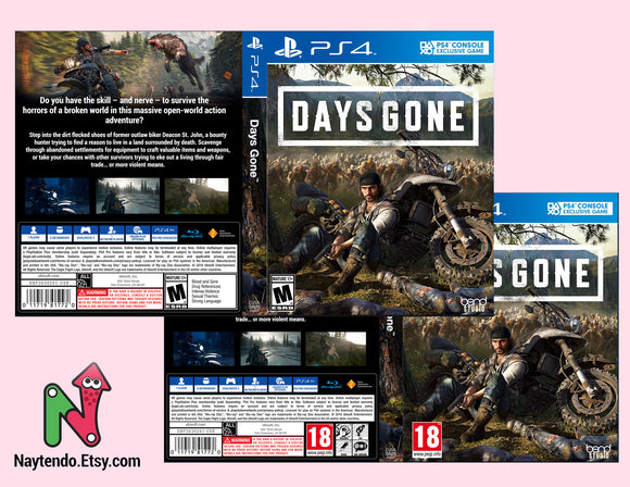 Days Gone  - Custom PS4 Art Cover w/ Game Case