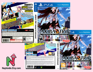 Akiba's Trip: Undead & Undressed  - Custom PS4 Art Cover w/ Game Case
