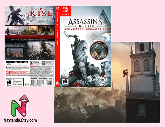 Assassin S Creed Remastered Custom Nintendo Switch Art Cover