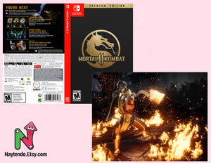 Mortal Kombat 11 Premium Edition - Custom Nintendo Switch Art Cover w/ Game Case