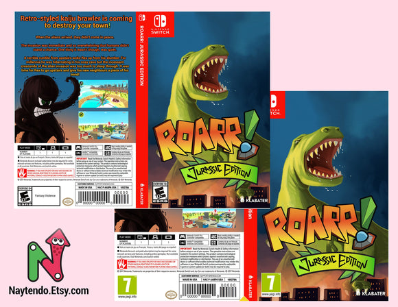 Roarr! Jurassic Edition - Custom Nintendo Switch Art Cover w/ Game Case