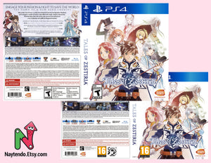Tales of Zestiria  - Custom PS4 Art Cover w/ Game Case