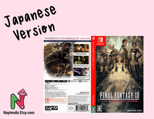 Final Fantasy XII: Zodiac Age JAPANESE - Custom Nintendo Switch Art Cover w/ Game Case