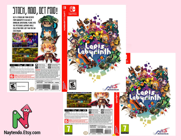 Lapis x Labyrinth - Custom Nintendo Switch Art Cover w/ Game Case