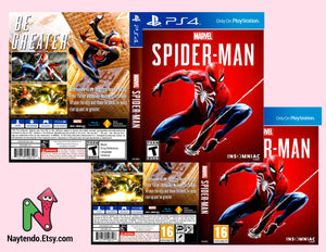 Spider Man - Custom PS4 Art Cover w/ Game Case