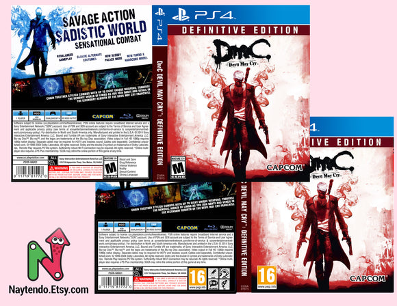 Devil May Cry: Definitive Edition - Custom PS4 Art Cover w/ Game Case