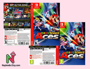 Mario Tennis Aces - Custom Nintendo Switch Art Cover w/ Game Case