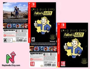 Fallout 4: Game of the Year Edition - Custom Nintendo Switch Art Cover w/ Game Case