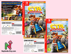 Crash Team Racing Nitro-Fueled - Nintendo Switch Online - Custom Nintendo Switch Art Cover w/ Game Case