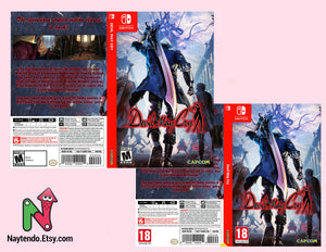 Devil May Cry - Custom Nintendo Switch Art Cover w/ Game Case