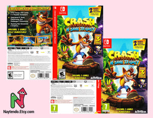 Crash Bandicoot N'Sane Trilogy - Custom Nintendo Switch Art Cover w/ Game Case