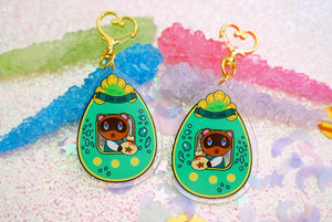 "TOM Nook Animal Crossing Tamagotchi 2.5"" DOUBLE SIDED Acrylic Charm 