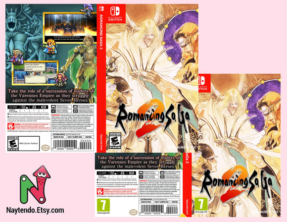 Romancing SaGa 2 - Custom Nintendo Switch Art Cover w/ Game Case