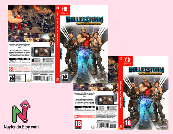 Bulletstorm Duke of Switch Edition - Custom Nintendo Switch Art Cover w/ Game Case