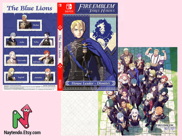 Fire Emblem: Three Houses Inside Art Included | Dimitri | Blue Lions | Custom Nintendo Switch Art Cover