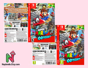 Super Mario Odyssey - Custom Nintendo Switch Art Cover w/ Game Case
