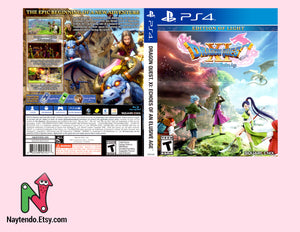 DragonQuest XI: Echoes of an Elusive Age - Custom PS4 Cover w/ Game Case