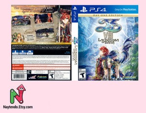 Ys VIII: Lacrimosa of Dana - Custom PS4 Cover w/ Game Case