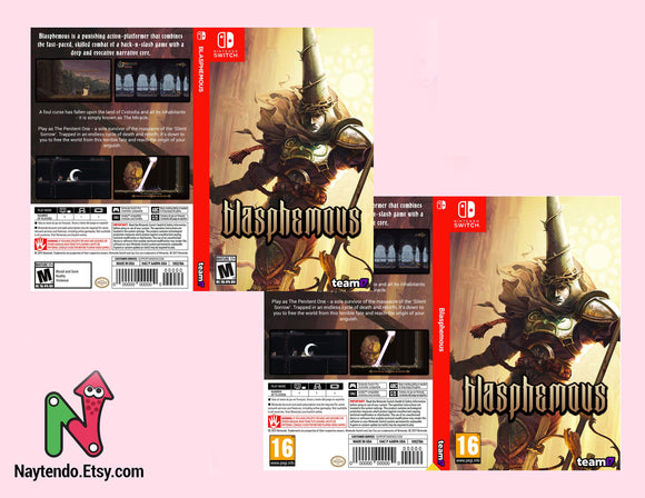 Blasphemous - Custom Nintendo Switch Art Cover w/ Game Case