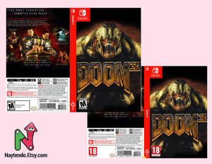 Doom 3 - Custom Nintendo Switch Art Cover w/ Game Case