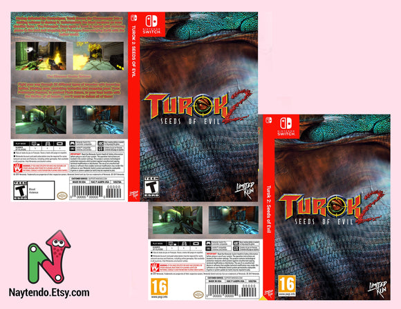 Turok 2 - Custom Nintendo Switch Art Cover w/ Game Case