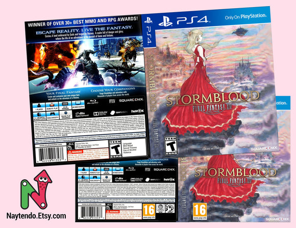 STORMBLOOD: Final Fantasy 14 Online - Custom PS4 Art Cover w/ Game Case