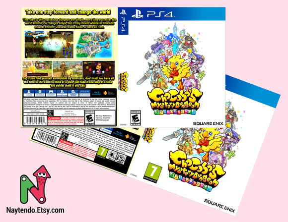 Chocobo Mystery Dungeon: Everybuddy! - Custom Art Cover