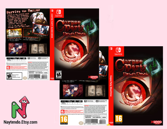 Corpse Party: Blood Drive - Civil Unrest- Custom Nintendo Switch Art Cover w/ Game Case