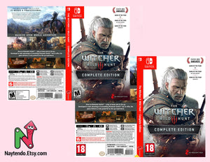 The Witcher 3: Wild Hunt Complete Edition - Custom Nintendo Switch Art Cover w/ Game Case