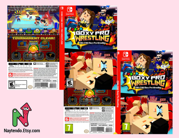 Chiki-Chiki Boxy Pro Wrestling - Civil Unrest- Custom Nintendo Switch Art Cover w/ Game Case