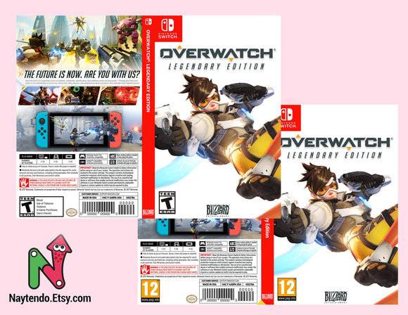Overwatch Tracer - Custom Nintendo Switch Art Cover
