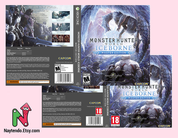 Monster Hunter World: Iceborne Master Edition - Custom Xbox One Art Cover