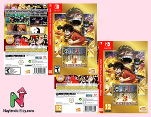 ONE PIECE Pirate Warriors 3 Deluxe Edition - Custom Nintendo Switch Art Cover w/ Game Case