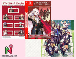 Fire Emblem: Three Houses Inside Art Included | EDELGARD | Black Eagles | Custom Nintendo Switch Art Cover