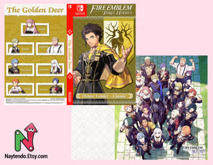 Fire Emblem: Three Houses Inside Art Included | Claude | Golden Deer | Custom Nintendo Switch Art Cover
