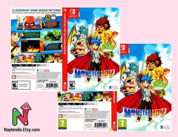 Monster Boy and the Cursed Kingdom - Custom Nintendo Switch Art Cover w/ Game Case