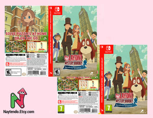 LAYTON'S MYSTERY JOURNEY: Katrielle and the Millionaires' Conspiracy - Custom Nintendo Switch Art Cover w/ Game Case