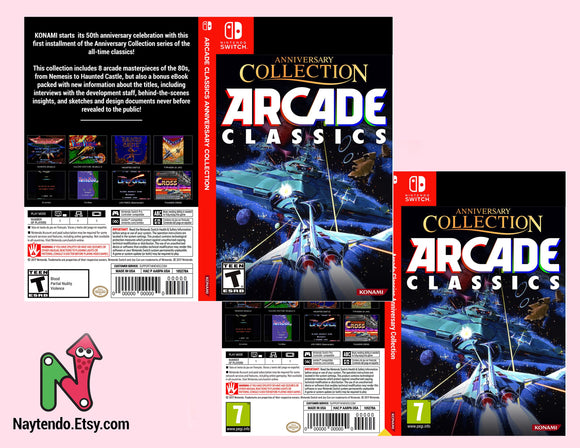 Arcade Classics Anniversary Collection - Custom Nintendo Switch Art Cover