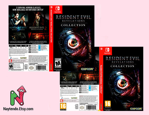 Custom Nintendo Switch Art Cover w/ Game Case - Resident Evil Revelation Collections