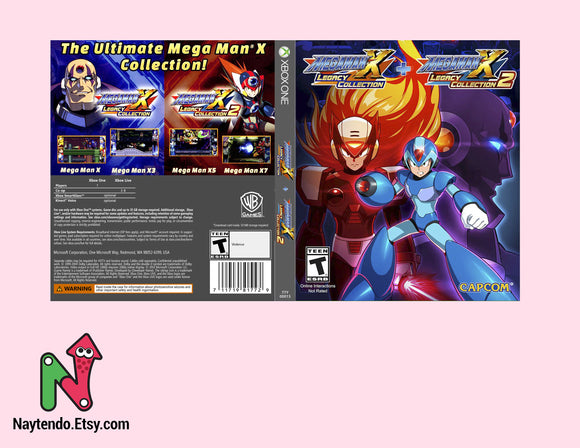 Megaman X Legacy Collection 1 + 2 - Custom Xbox One Art Cover