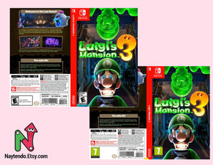 Luigi's Mansion 3 - Custom Nintendo Switch Art Cover w/ Game Case