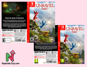 Unravel Two - Custom Nintendo Switch Art Cover w/ Game Case