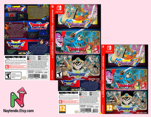 DRAGON QUEST 1+2+3 COLLECTION - Custom Nintendo Switch Art Cover