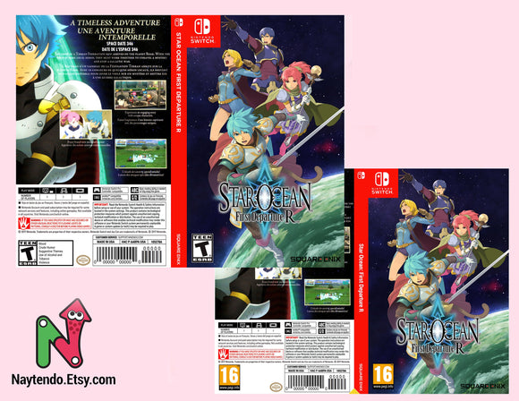 Star Ocean: First Departure R - Custom Nintendo Switch Art Cover