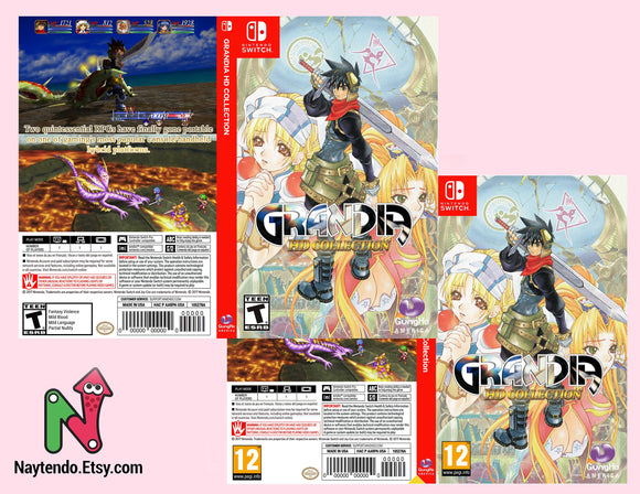 Grandia HD Collection - Custom Nintendo Switch Art Cover